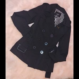 Rue 21 black light weight belted  trench coat